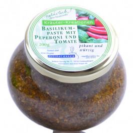 Basilikumpaste mit Peperoni und Tomate 200g